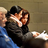 Lynn. Breed MS. MBTA Fare Proposal open meeting.<br /> lft. Sylvia Cabral, rt.Jeanne-Marie Cabe, both of Lynn, read the handout that was available at the door.