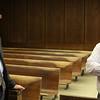 Lynn District Court judges James LaMothe Jr. left, and Albert Conlon, right, reminise about thier colleague the late Judge Joseph Dever. Photo by Owen O'Rourke