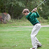 Classical's Pat Finnigan swings during their match against Lynn English at Gannon Golf Course on Tuesday, October 9. Item Photo / Angela Owens.