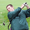 Classical's Russel Holmes swings during their match against Lynn English at Gannon Golf Course on Tuesday, October 9. Item Photo / Angela Owens.