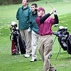 From left, Russell Holmes and Mark Brazell watch Mathieu Bruneau's ball during Classical and Lynn English's match at Gannon Golf Course on Tuesday, October 9. Item Photo / Angela Owens.