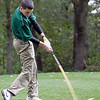 Classical's Eric Brazell swings during their match against Lynn English at Gannon Golf Course on Tuesday, October 9. Item Photo / Angela Owens.