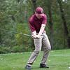 Lynn English's Matt Sencabaugh swings during their match against Classical at Gannon Golf Course on Tuesday, October 9. Item Photo / Angela Owens.