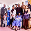 Lynn, Zion Baptist Church. Velma Berry, Chelmsford, with her family.  Velma just turned 100 years old.<br /> lft to rt: Keyon Clements, Chelmsford (little boy), Jordan Berry, Topsfield, Kaevon Clements, Chelmsford, Lillian Berry-Rogers, Lynn, Travonne Berry-Rogers, Lynn, Stuart Primus, Holliston, Velma Berry, seated in wheelchair, Douglas Rogers, Lynn, Nancy Henderson, Lynn, Bahia Henderson, Lynn, Deborah Berry, Topsfield, Reginald Berry, Chelmsford.