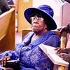 Lynn, Zion Baptist Church, Velma Berry, Chelmsford, who just celebrated her 100th birthday, during the Sunday service.