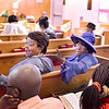 Lynn, Zion Baptist Church, Velma Berry, who turned 100 recently, greets a member of the congregation along with Georgia Mullen, Lynn.
