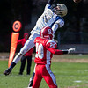 Winthrop High School tight end Devin Pulsifer misses a pass during a game against Saugus High School in Saugus on Saturday, Oct. 15, 2016. (Photo by Scott Eisen/The Item)