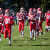 Saugus High School football players takes the field during a game against Winthrop High School in Saugus on Saturday, Oct. 15, 2016. (Photo by Scott Eisen/The Item)