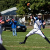 Winthrop High School football quarterback Christopher Zuffante passes the ball during a game against Saugus High School in Saugus on Saturday, Oct. 15, 2016. (Photo by Scott Eisen/The Item)