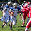 Winthrop High School football running back Jon Gonzalez runs with the ball during a game against Saugus High School in Saugus on Saturday, Oct. 15, 2016. (Photo by Scott Eisen/The Item)