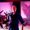 "Lynn. Lynn Arts Black Box. Dress rehearsal for ""Silence! The Musical"".  Hannibal Lecter played by Chas Kircher."