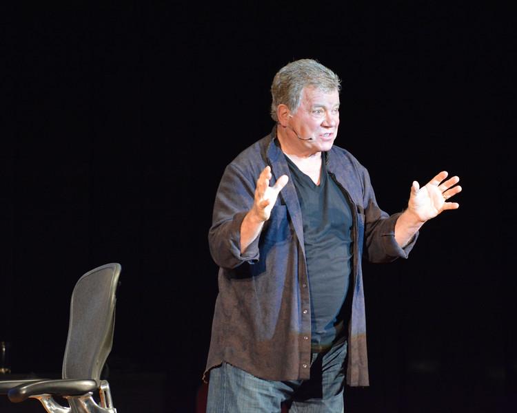 Lynn. City Hall Auditorium. William Shatner in his monologue.