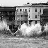 A king tide (defined as the very higest tides) had waves slapping against the sea wall on  Lynn Shore Drive. Photo by Owen O'Rourke
