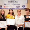 Nominees for the Businesswoman of the Year award for intermediate business, from left, Danielle Roback, Stephanie Vanderbilt, Lisa Almeida, and Heidi Nicholson, pose for a photo at the annual North of Boston Businesswomen of the Year awards at the Holiday Inn in Peabody on Wednesday, October 23. Item Photo / Angela Owens.