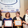 Nominees for the Businesswoman of the Year award for Civic/Non-profit, from left, Pamela Casey O'Brien, Kate Luchini, Moira Landry, and Cathy Rowe, pose for a photo at the annual North of Boston Businesswomen of the Year awards at the Holiday Inn in Peabody on Wednesday, October 23. Item Photo / Angela Owens.