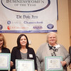 Nominees for the Businesswoman of the Year award for medium business, from left, Fran Dichner, Shirley Kelley, Anna Roderick, and Grace Cotter Regan, pose for a photo at the annual North of Boston Businesswomen of the Year awards at the Holiday Inn in Peabody on Wednesday, October 23. Item Photo / Angela Owens.