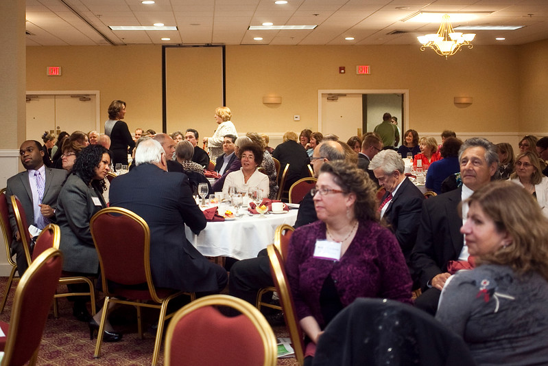 The audience at the annual North of Boston Businesswomen of the Year awards at the Holiday Inn in Peabody on Wednesday, October 23. Item Photo / Angela Owens.
