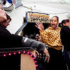 Glorica Cepeda, 13, left, and Glissenni Perez, 16, react to the electric chair room at Lynn Arts' Central Scare on Thursday, October 25. Item Photo / Angela Owens.