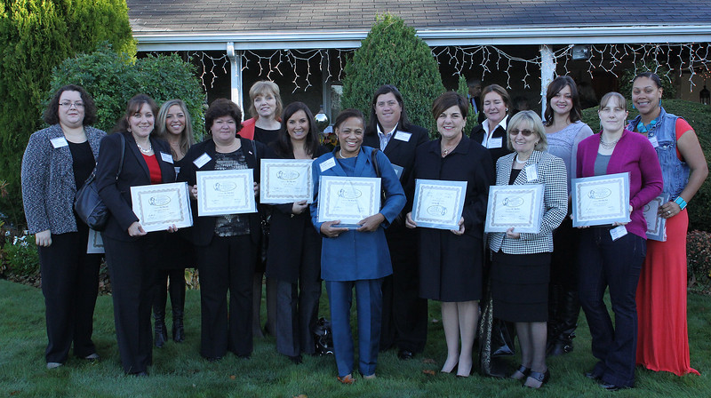 The nominees in the Small Business catergory ath the 12th Annual North of Boston Business Women of the Year awards held at the Nahant Country Club on October 25. In photo: Amy Amirault, Geri Cronin, Norma Delgado, Suzanne Downs, Lisa Faia, Pat Gorham, Pam Granese, Daine Larson, Brianna LeBlanc, Paolina Lepore, Lisa McGloin, Christy Merryman, Susie Moniz, Kim Patrizzi, Laurie Pezzno, Dianne Richard, Danielle Roback, Heather Scanlan, Colleen Toner, and Elissa Von Letkemann.