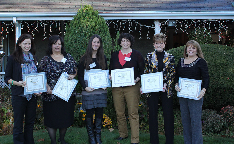 Nominees in the Intermediate Business class at the 12th Annual North of Boston Business Women of the Year awards held at the Nahant Country Club on October 25.From left to right: Andrea DeAngelo, Angela Mikedis, Jennifer Burke, Stacey Ames, Pauline Spirito, and Christine Pierce. Photo by Owen O'Rourke