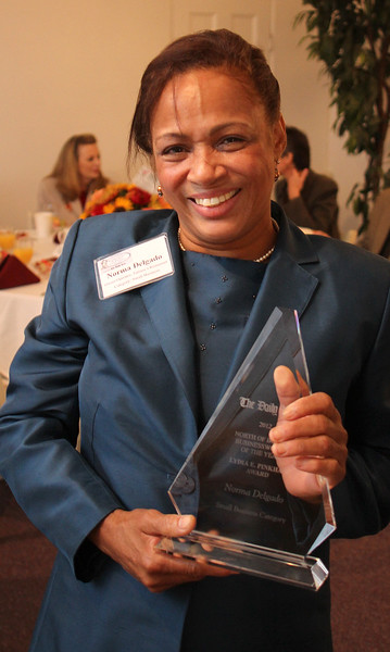 Norma Delgado, Tatiana's Restaurant, Lynn, won the 12th Annual North of Boston Businesswomen of the Year in the Small Business category in a ceremony at the Nahant Country Club on October 25. Photo by Owen O'Rourke