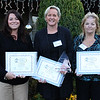 Nominees in the Medium Business class at the 12 Annual North of Boston Business Woman of the Year held at the Nahant Country Club on October 25.  From left to right: Trica Murphy, Kelly Delany and Karen Bettencourt,