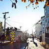 Lynn firefighters work on the scene of a fire at 589-591 Summer Street on Thursday, October 25. Item Photo / Angela Owens.