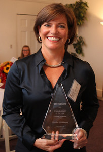 Heather Hildebrand of Centerboard, Lynn, won the 12 Annual North of Boston Businesswomen of the Year award in the Civic/Nonprofit category at a ceremony held at the Nahant Country Club on October 25. Photo by Owen O'Rourke
