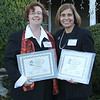 Gayla Barlett, left, and Lisa Mislo, right, nominees in the Large Business category at the 12 Annual North of Boston Business Women of the Year awards held at the Nahant Country Club on October 25. Photo by Owen O'Rourke