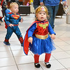 Saugus, Square One Mall. Halloween Boo Bash. Baylee Morneau and her brother Brayden Morneau, Lynn, strike out to look for candy during the trick or treat bonanza.
