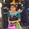 "Saugus, Square One Mall. Halloween Boo Bash.  Lynn resident Natalie Ramirez, aged 8, as ""Anna"" from Frozen, trick or treats amoung the stores."