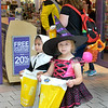 Saugus, Square One Mall. Halloween Boo Bash.  Courtney Taylor, lft, and Sabrina Caranfa, rt. both of Saugus, trick or treat around the mall going from store to store.