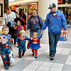 Saugus, Square One Mall. Halloween Boo Bash. Lynn residents Dawn and Ben Morneau bring their three children, Brayden, Austin and Baylee to trick or treat in the Mall on Saturday.