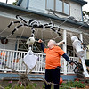 Lynn, 131 Woodlawn Street. Larry Lawless and his Halloween decorations. The Pine Hill neighborhood where he lives is filled with trick or treaters on Halloween night. Larry sets up a refreshment station at his house.
