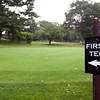 A sign directs golfers to the first tee at Gannon Golf Course on Friday, October 4. Item Photo / Angela Owens.