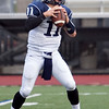 Swampscott's Brendan McDonald (11) makes a pass during their game against Lynn English at Manning Field on Friday, October 4. Item Photo / Angela Owens.