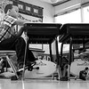 Victor Cruz Jr., a second grade student at the Oaklandvale Elementary School in Saugus, using the desk Cycle as part of the new flexible seating at the school during art class. Photo by Owen O'Rourke
