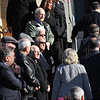 People file into the Holy Family Church in Lynn for the funeral of Antonio Marino today. Photo by Owen O'Rourke
