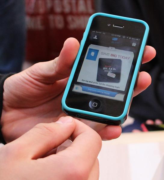 The phone app shoppick. Photo by Owen O'Rourke