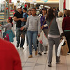 By eleven Friday morning, the crowds had thinned out in the Square One Mall in Saugus.Photo by Owen O'Rourke