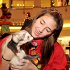 """12/9/12 Saugus, Square One Mall.<br /> Kirstin Casey, Lynn, with """"Rugby"""" the ferret.  """"Rugby"""" owned by Maggie McDevitt and Meaghan Schultz, both Lynn."""