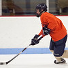 St Mary's Andrew Markham skates down the ice during hockey practice at Connery Rink on Monday, December 10. Item Photo / Angela Owens.