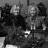 Co-chairwomen of the Nahant Garden Club, Paula Smith on the left, and Joanne Bryanos, on the right, selling home made center pieces, Boxwood trees and Amaryllis Pots at the 12th Annual Nahant Holiday Fair at town hall on Saturday. Run by the Nahant Womens Club, all money raised at the event is used for scholarships for Nahant Kids. Photo by Owen O'Rourke