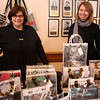 Kathy Cormier, left, and Michelle Kane, right, from Couture Planet  located in the Lydia Pinkham Building in Lynn were one of the may vendors on hand at the 12th annual Nahant Holiday Fair held at town hall on Saturday. Photo by Owen O'Rourke