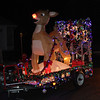 One of the many Christmas floats in the Nahant Christmas parade on Saturday. Photo by Owen O'Rourke