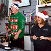 Lynn, Four Winds. Celebrity Bartenders.  Working the bar: Phil Ouellette and MayorJudith Kennedy.
