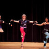 """Michele Capozzi, a guidance counselor, dances with students Renee Cooper and Bella Capone, to Madonna's """"Borderline"""" at the Swampscott High School """"Dancing with the Staff"""" event on Thursday, Feb. 9. Item Photo / Angela Owens."""