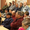 The meeting on casinos at the community room at the Revere Police Department on Saturday drew an overflow crowd. Photo by Owen O'Rourke