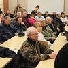 There was a standing room only crowd at the community room at the Revere Police Department on Saturday for the discussion of casinos. Photo by Owen O'Rourke
