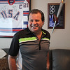 Mike Eruzione in his home in Winthrop. Photo by Owen O'Rourke